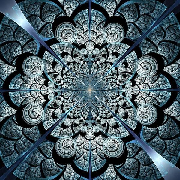 Digital Art - Blue Gates by Anastasiya Malakhova
