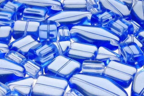 Handicraft Wall Art - Photograph - Blue Glass Beads by Jim Hughes
