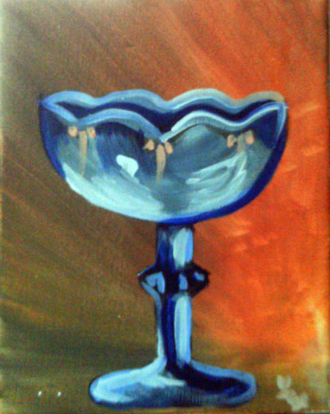 Painting - Blue Glass by Loretta Nash