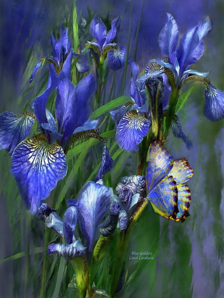 Purple Iris Mixed Media - Blue Goddess by Carol Cavalaris