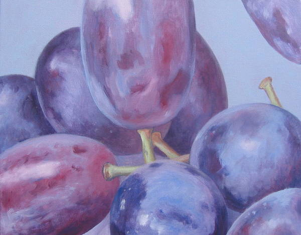 Painting - Blue Grapes by Kazumi Whitemoon