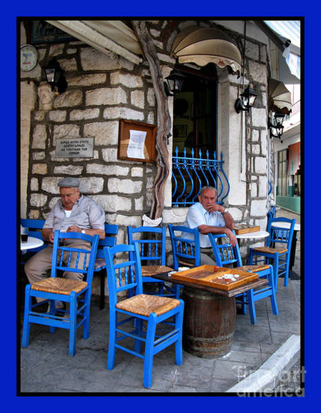 Photograph - Blue Greek Taverna by Daliana Pacuraru