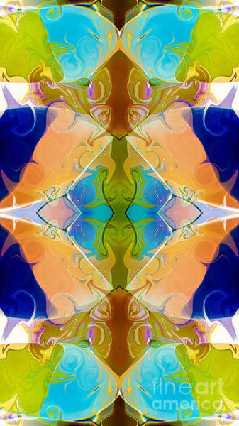 Digital Art - Blue Green Abstract Algea Patterned Artwork By Omaste Witkowski by Omaste Witkowski
