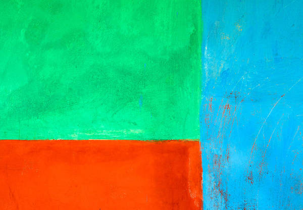 Wall Art - Photograph - Blue Green And Orange Abstract Background by Dutourdumonde Photography