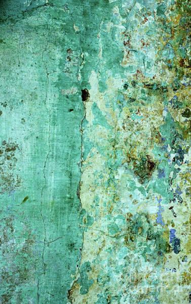Rick Piper Photograph - Blue Green Wall by Rick Piper Photography