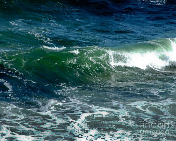 Photograph - Blue Green Wave by Kristen Fox