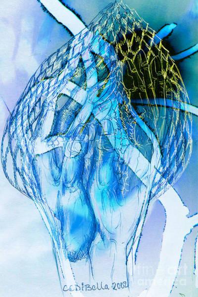 Blue Hands Art Print
