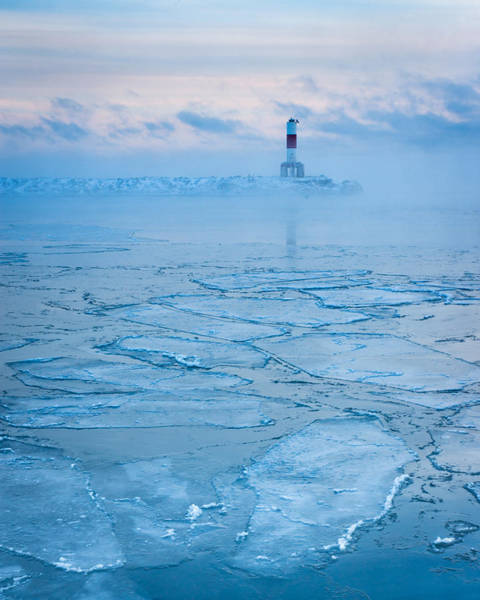 Wi Photograph - Blue Harbor Ice by Bill Pevlor