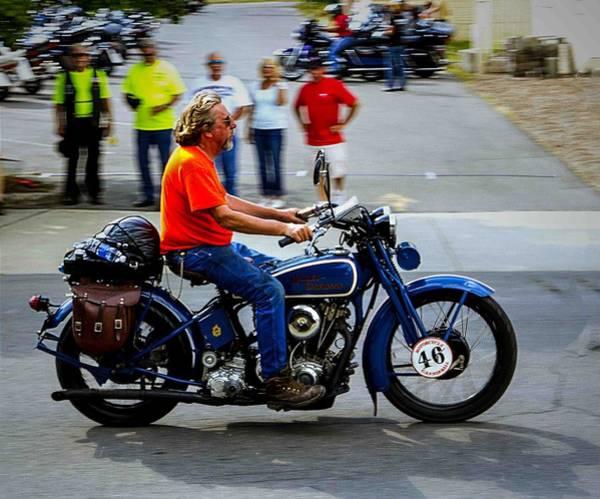 Photograph - Blue Harley 46 by Jeff Kurtz