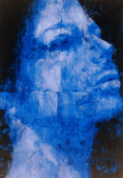 Wall Art - Painting - Blue Head by Graham Dean