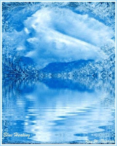 Mixed Media - Blue Healing by Ray Tapajna