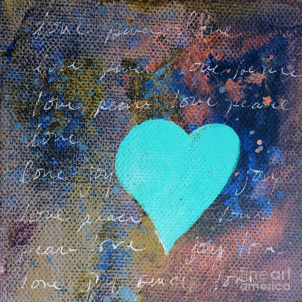 Painting - Blue Heart  by Robin Maria Pedrero