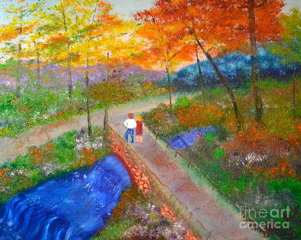 Painting - Blue Hill Brook by Denise Tomasura