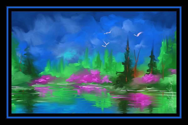 Wall Art - Painting - Blue Horizon by Steven Lebron Langston