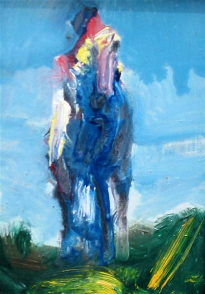 Painting - Blue Horse by Les Leffingwell