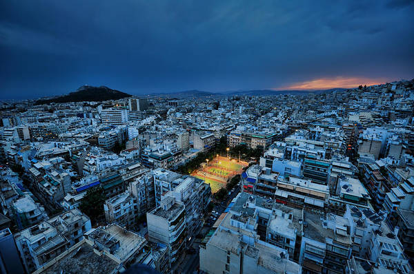 Greece Photograph - Blue Hour In Athens by Nemo Galletti