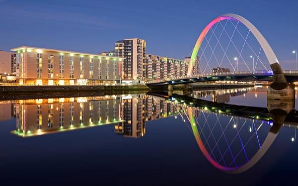 Photograph - Blue Hour In Glasgow by Stephen Taylor