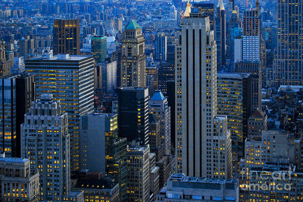 Sabine Photograph - Blue Hour In New York City Usa by Sabine Jacobs
