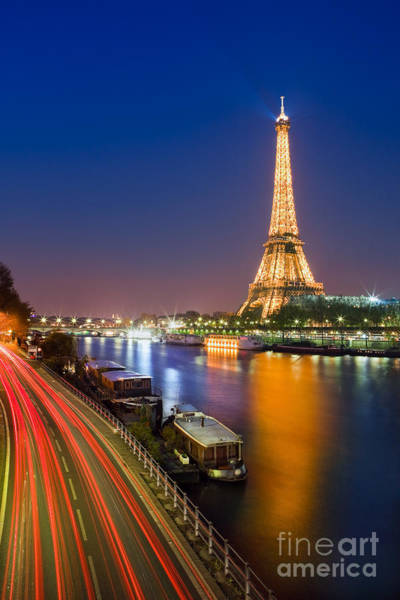 Meijer Wall Art - Photograph - Blue Hour In Paris With The Eiffeltower by Henk Meijer Photography