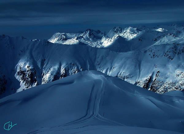 Photograph - Blue Hour Ischgl Austrian Mountain  by Colette V Hera  Guggenheim