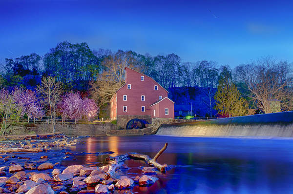 Wall Art - Photograph - Blue Hour Mill by Ryan Crane