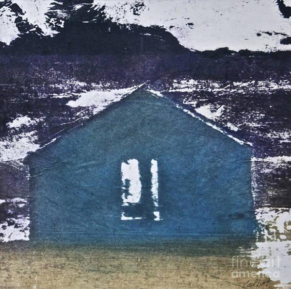 European Vacation Mixed Media - Blue House by Deborah Talbot - Kostisin