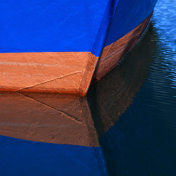 Fishing Boat Photograph - Blue Hull by Carol Leigh