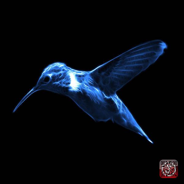 Digital Art - Blue Hummingbird - 2054 F by James Ahn