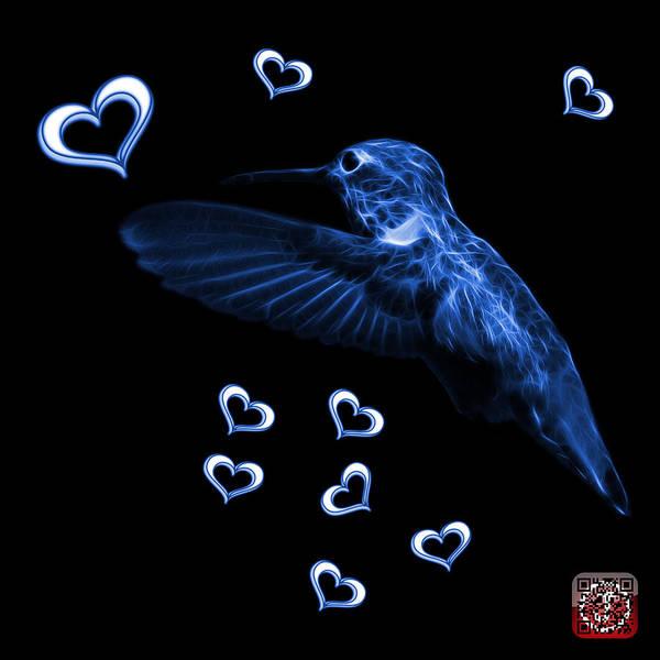 Digital Art - Blue Hummingbird - 2055 F M by James Ahn