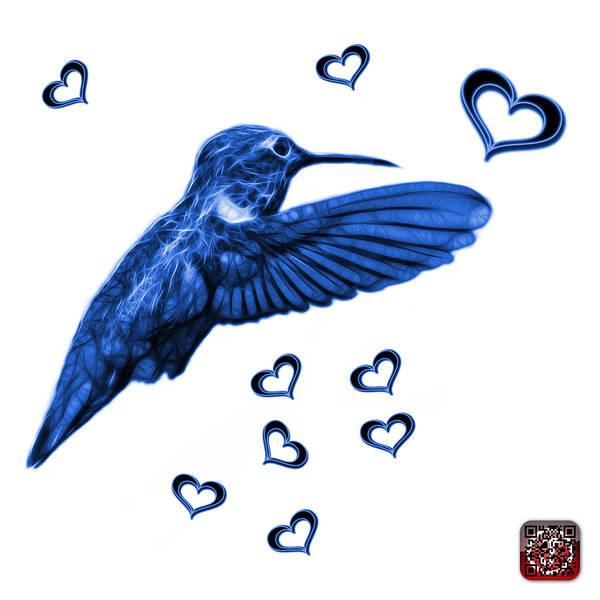 Digital Art - Blue Hummingbird - 2055 F S M by James Ahn