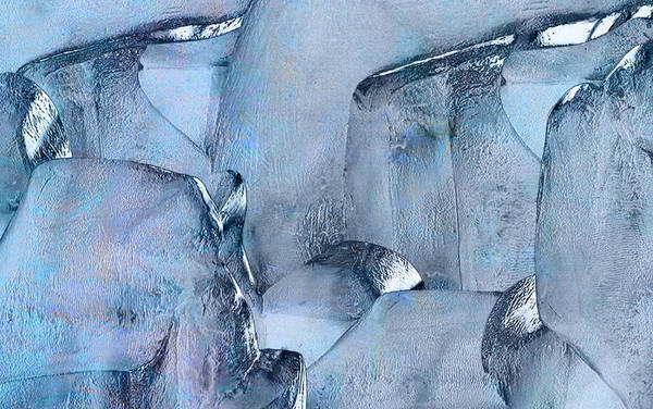 Abstract Expressionism Wall Art - Painting - Blue Ice by Jack Zulli
