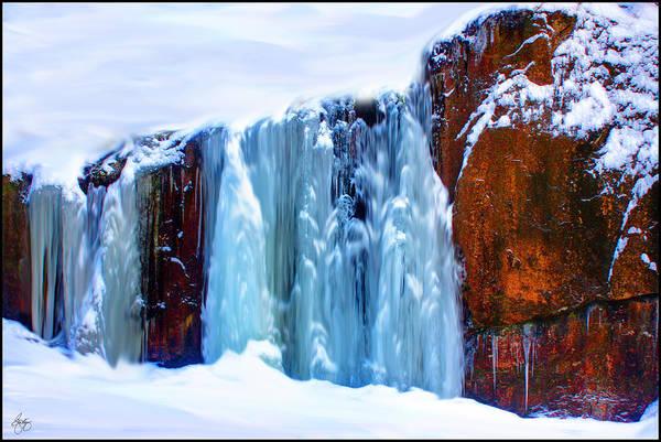 Photograph - Blue Iceflow Mindscape by Wayne King