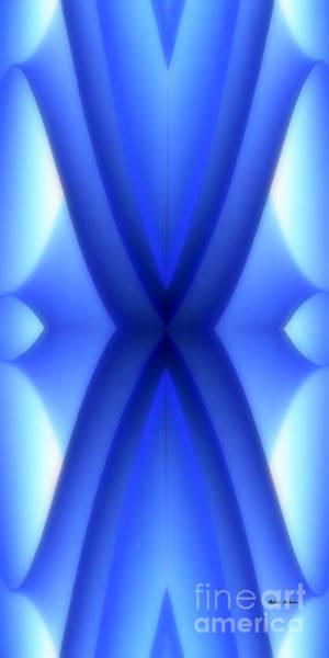 Digital Art - Blue Kaleidoscope by Rafael Salazar