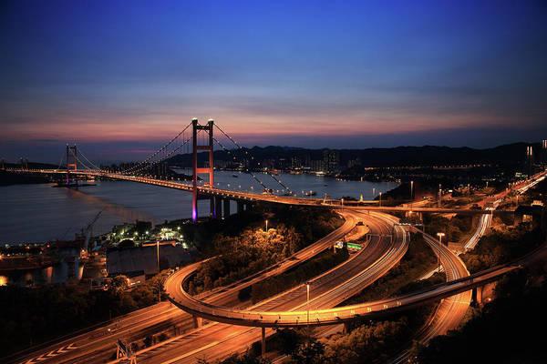 Rush Hour Photograph - Blue by Kingkong2012