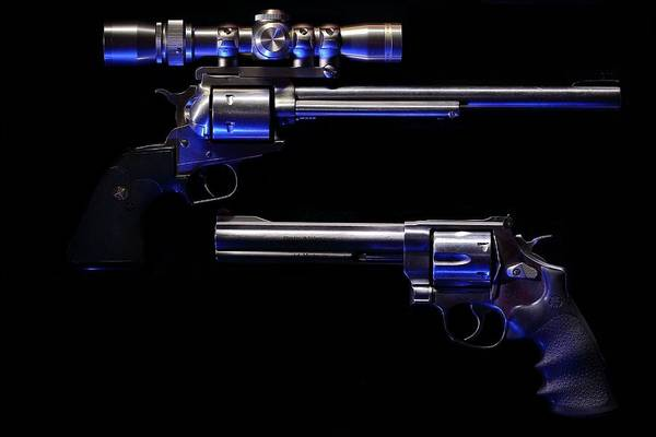 Photograph - Blue Kissed Pistols by David Andersen