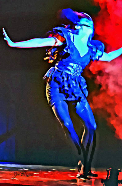 Photograph - Blue Lady Dancer by Joan Reese