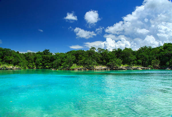 Puerto Plata Photograph - Blue Lagoon In Dominican Republic by Dmitry Sergeev