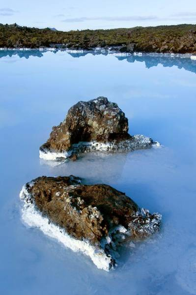 Geothermal Photograph - Blue Lagoon by Steve Allen/science Photo Library