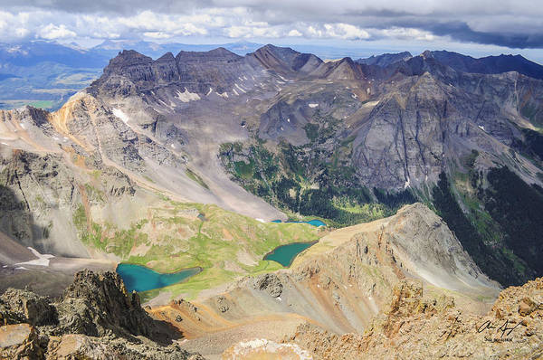 Wall Art - Photograph - Blue Lakes by Aaron Spong