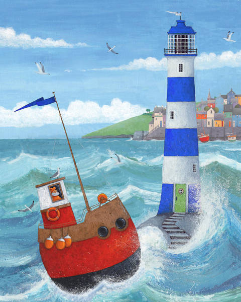 Wall Art - Photograph - Blue Lighthouse by MGL Meiklejohn Graphics Licensing