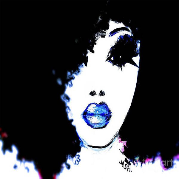 Respect Digital Art - Blue Like Morning by Respect the Queen