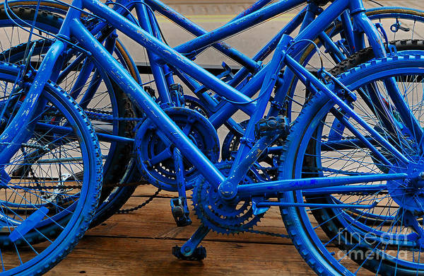 Ugly Photograph - Blue Limousines by Steven Milner