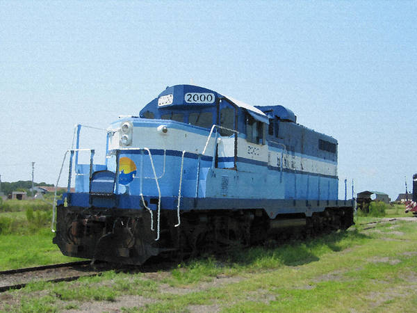 Photograph - Blue Loco by Richard Reeve