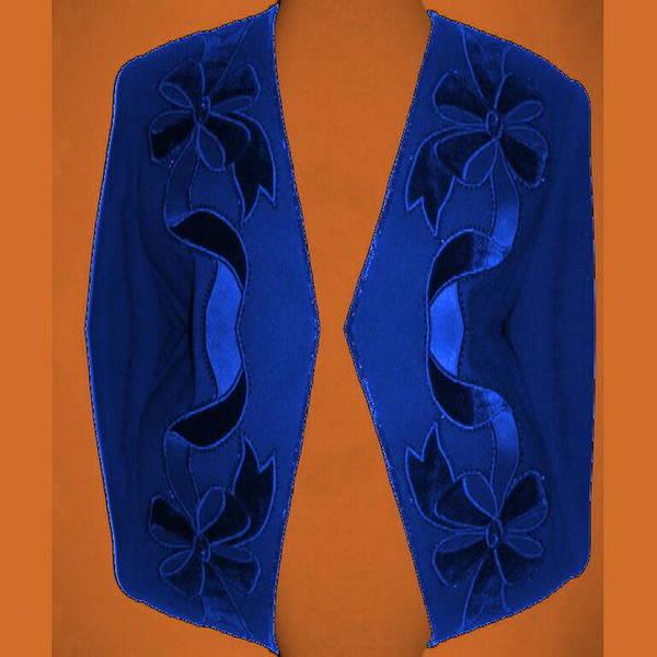 Digital Art - Blue Longer Jacket by Mary Russell