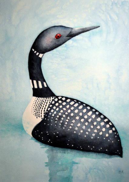 Loon Painting - Blue Loon by Sarah Rosedahl
