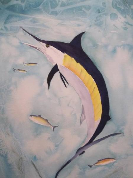 Painting - Blue Marlin by Audrey Bunchkowski