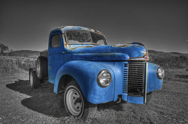 Waterbury Photograph - Blue by Mike Horvath