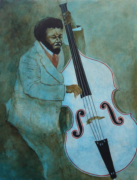 Postmark Painting - Blue Mingus by Dave Coleman