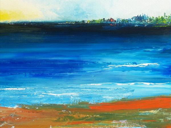 Painting - Blue Mist Over Nantucket Island by Conor Murphy