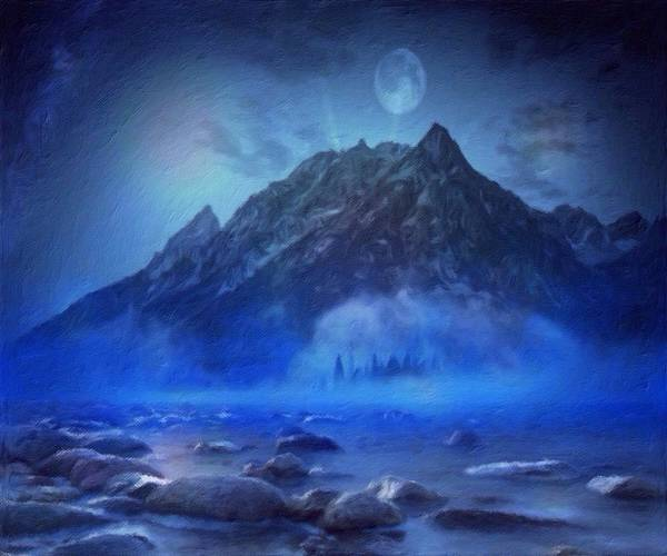 Blue Mist Rising Art Print